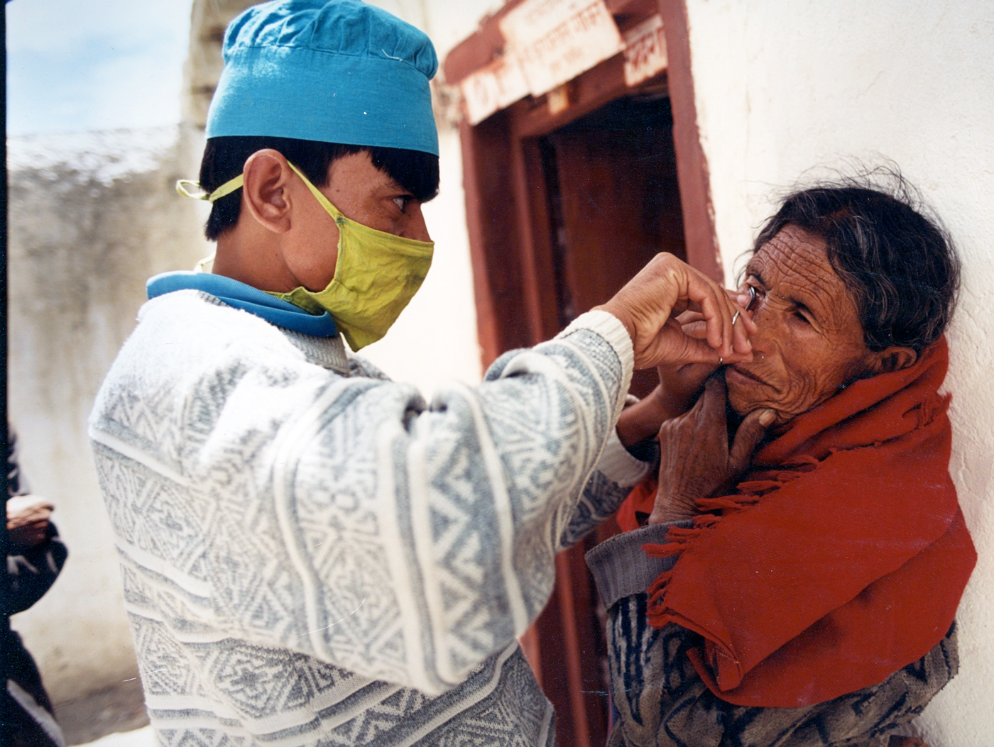 eye exam in remote village